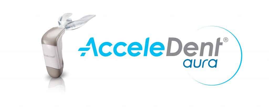 Acceledent Aura Logo & Product