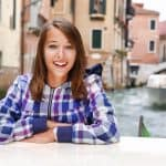 smiling lady in venice
